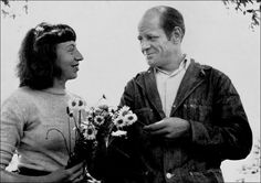 Artists Lee Krasner and Jackson Pollock