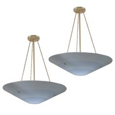 Pair of Cone Blue Chandeliers, Concentric Blue Stripes, Diameter 1 Chandelier Pendant Lights, Vintage Chandelier, Modern Chandelier, Vintage Lighting, Chandeliers, Vintage Light Fixtures, Contemporary Lamps, Home Decor Inspiration, Blue Stripes