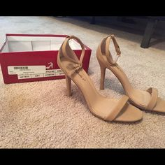 Ankle strap heels New never worn! Nude color Shoes Heels