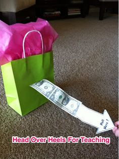 Money Gift Bag!!!! Such a fun idea for when you don't know what to get someone.