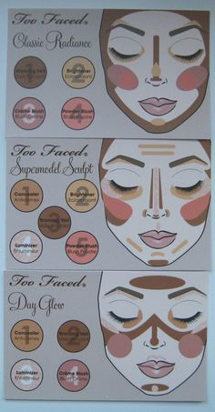 different styles of contouring//