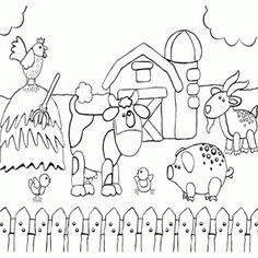 Printable Preschool Coloring Page Of Happy Farm Animals