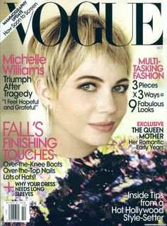 US VOGUE - OCTOBER 2009 COVER MODEL - MICHELLE WILLIAMS