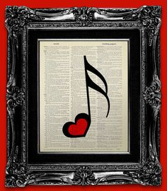 MUSIC PRINT Music Decor Print on Dictionary Art by iFUNmagine, $10.00
