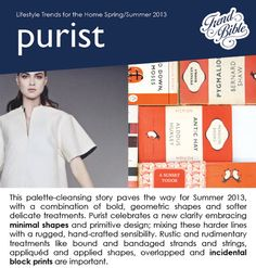 2013 Spring/Summer trends. Home. Lifestyle.