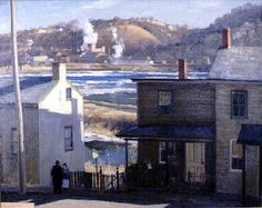New Hope Millworkers' Cottages -- Harry Leith-Ross -- Bucks County Artists -- Michener Art Museum Impressionist Paintings, Impressionism, Michener Art Museum, Hope Art, Bucks County, New Art, Watercolour, Oil On Canvas, Past