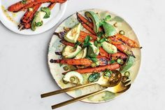 Best Grilled Vegetables, Grilled Carrots, Cooked Carrots, Veggies, Root Vegetables, Mint Recipes, Veggie Recipes, Vegetarian Recipes, Healthy Recipes