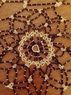 Tablecloth:handmade with beads