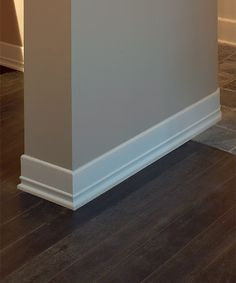 Baseboards simple and love on pinterest for Art deco baseboard molding