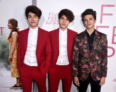 """Brent Rivera Photos – (L-R) Alan Stokes, Alex Stokes and Brent Rivera arrive at the premiere of CBS Films' """"Five Feet Apart"""" at the Fox Bruin Theatre on March 2019 in Los Angeles, California. – Premiere Of Lionsgate's 'Five Feet Apart' – Red Carpet Brent Rivera, Twin Guys, Famous Twins, Lions Gate, Photo L, Red Carpet Looks, Princesas Disney, West Hollywood, Cute Guys"""
