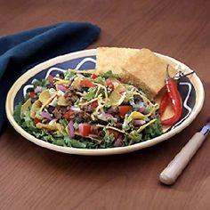Try Ortega Take Along Taco Salad at family night! Taco Salad Recipes, Taco Salads, Healthy Salads, Mexican Food Recipes, Ethnic Recipes, Recipe Details, Potlucks, Soup And Salad, Picnics