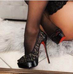 OneStepForth serves a unique high heel shoe taste. Do visit regularly as we often have new heels. Louboutin High Heels, Stiletto Heels, Shoes Heels, Pantyhose Heels, Stockings Heels, Stockings Lingerie, Very High Heels, Hot High Heels, Gorgeous Heels
