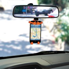 A neat device that will hold your phone - no more glancing down and taking your eyes off the road