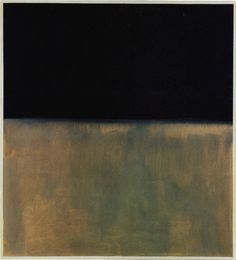 Black on Grey - Mark Rothko, 1969 This is of my all time favorite paintings