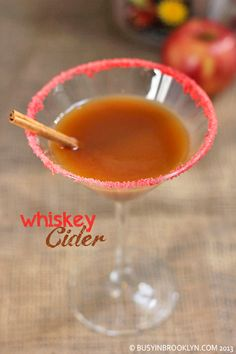 celebrate fall with a whiskey cocktail made with apple cider syrup.