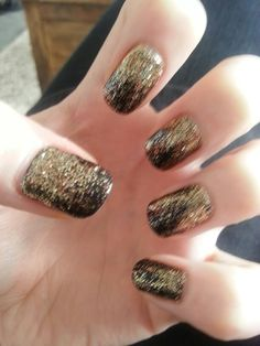 Back & Gold Rockstar Nails