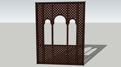 Moroccan Lattice Window frame - 3D Warehouse