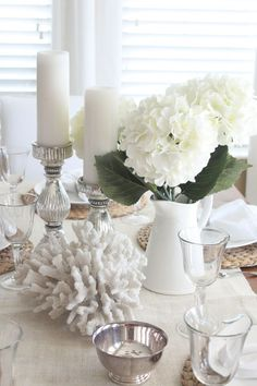 "One Table, Three Ways How to use one basic table arrangement and ""tweak"" a few details for three different looks."