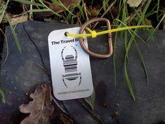 (TB6QZP3) Travel Bug Dog Tag - Grey ring tone!
