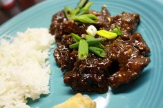 mongolian beef done in a crock pot. = ah-mazingness!!! via notes from the heartland { http://jvanoort.blogspot.com/ }