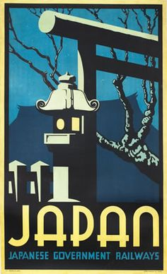 Japan - Japanese Government Railways by Brown, P. Irwin | Vintage Posters at International Poster Gallery