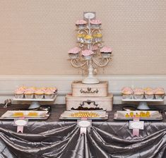Paris themed baby shower table