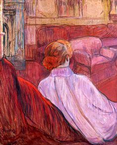 Red hair in Paintings: Red haired females in red surroundings