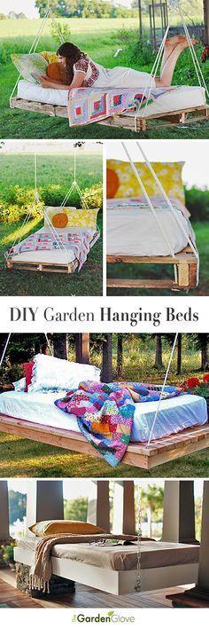DIY Garden Hanging Beds • Pallet Bed • Tutorials • Love Love Love these!