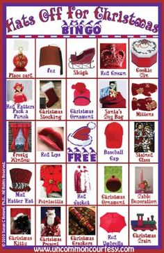 Hats Off for Christmas Bingo Game- Printable Game for Just $1.99!