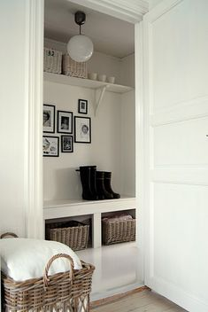 Do.It.Yourself - great way to transform any regular Storage Closet into THIIIS!! :)