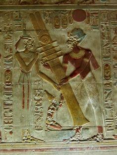 Sala de Osiris en el templo de Abydos