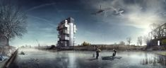 'BS25′ Silos – Diving and Indoor Skydiving Center Proposal / Moko Architects  http://www.archdaily.com/372665/bs25-silos-diving-and-indoor-skydiving-center-proposal-moko-architects/