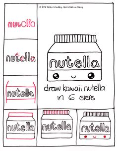 how to draw kawaii food step by step
