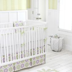 Pedal Pusher in Lavender 2-Piece Crib Bedding Set - Jack & Jill Boutique