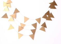 Wedding Garland Gold Geometric Banner 10 ft  by MailboxHappiness