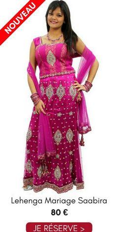 0992429c38242 Location Lehenga Choli Mariage Saabira Rose 38 Pas Cher 80€ Narkis Fashion