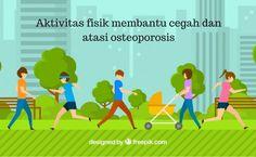 Cara terbaik untuk cegah dan atasi osteoporosis sedini mungkin dengan banyak melakukan aktivitas fisik. Yuk kita jaga tulang kita.