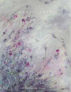 "New ""Lavender Fields"" original painting by Debi Coules available at www.debicoules.com"