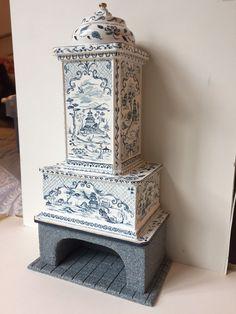 Dollhouse Miniature Artisan OOAK Renee Isabelle Chinoiserie Fireplace | eBay