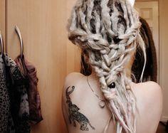 hair styles for white girl dreads Dread Braids, Dreadlock Hairstyles, Messy Hairstyles, Moustache, Short Hair Styles, Natural Hair Styles, Natural Dreads, Beautiful Dreadlocks, Dreads Styles