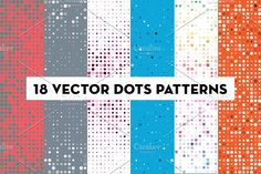 Vector Dots Pattern Backgrounds by kloroform on @creativemarket
