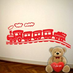 Train decal by Silhouette Design.in Adorn your wall with Silhouette Design and see the change in your decor. The most easy way to enhance your space.   mail us at:- info.silhouettedesign@gmail.com