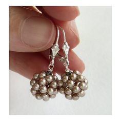 Ball Drop Swarovski Pearl Earrings in by TheJewelleryFactory, £34.00