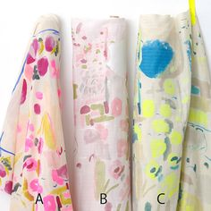 Japanese Fabric Kokka Nani Iro Freedom Garden double gauze, from MissMatatabi