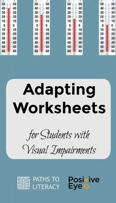 Adapting worksheets for students who are blind or visually impaired