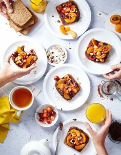 I would like some of this delicious looking toast right now, food photography, food styling