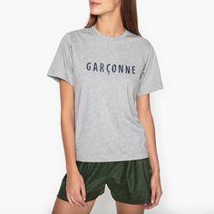 Image Christophe Embroidered Slogan T-Shirt SOEUR