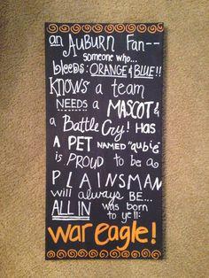 Auburn University quote canvas