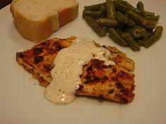 pan seared tilapia with white BBQ sauce
