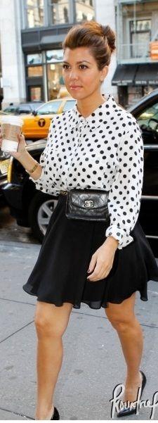 Kourtney Kardashian - polka dots